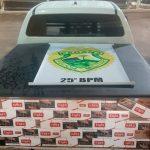 Polícia Militar apreende caminhonete carregada com cigarros contrabandeados em Umuarama