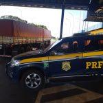 Após fiscalização da PRF, carreta leva multa de mais de R$ 41 mil na BR-272
