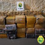 PM apreende 410 quilos de maconha em Tapejara