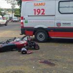 Motociclista sofre ferimentos graves após acidente em Umuarama