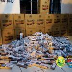 Carro com 1,2 mil pacotes de cigarro é apreendido pela PM em Roncador
