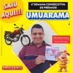 Morador de Umuarama ganha motocicleta 0 km pelo Vale Sorte