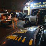 PRF apreende três veículos carregados com cigarros e agrotóxicos em Palotina