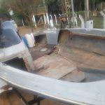Policiais ambientais apreendem barco preparado para o transporte de ilícitos no Rio Paraná