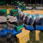 PRF apreende 10 toneladas de maconha escondidas em carga de milho na BR-277
