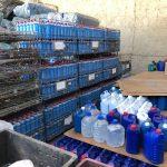 PCPR descobre depósitos clandestinos de álcool em gel falsificados no Paraná