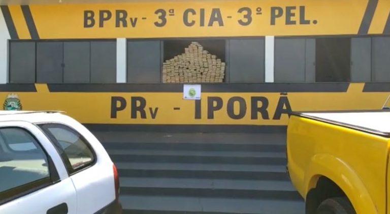 PRE apreende carro com mais de 200 quilos de maconha em Iporã