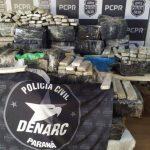 Denarc e PRF apreendem grande quantidade de maconha no Paraná