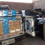 Cigarros contrabandeados e armas de Airsoft são apreendidos em Perobal