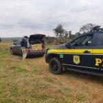 PRF apreende mais de 800 quilos de maconha na BR-487, em Alto Paraíso