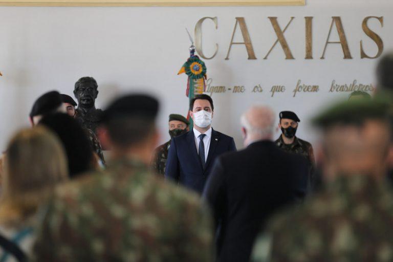 Governador Carlos Massa Ratinho Junior destaca parcerias entre o Estado e o Exército
