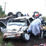 Acidente entre carro e caminhonete deixa dois feridos entre Umuarama e Maria Helena