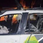 Dois PMs ficam feridos em explosão de viatura por suposto ataque com granada