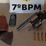 PM cumpre mandado judicial e apreende arma de fogo e munições em Moreira Sales