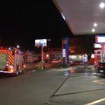 Kombi pega fogo em posto de combustíveis em Umuarama