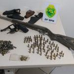 Polícia Militar apreende arma e munições em Douradina
