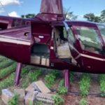 Helicóptero é apreendido com 430 quilos de cocaína em Corumbataí do Sul
