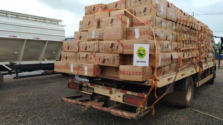 Cerca de 50 mil pacotes de cigarros são apreendidos em Nova Santa Rosa
