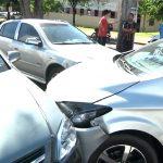 Acidente envolvendo quatro veículos foi registrado no centro de Umuarama
