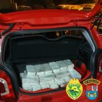 Carro com 132 quilos de crack é apreendido pela PM em Guaíra