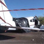 Duas pessoas ficam feriadas em pouso forçado de avião em Maringá