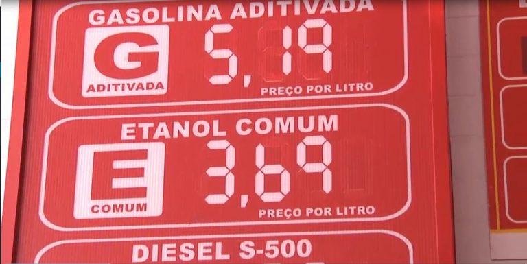Preços da gasolina e óleo diesel ficaram R$ 0,23 e R$ 0,34 mais caros, ultrapassando os R$ 5,00