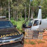 Polícia Federal apreende helicóptero com grande carga de cocaína