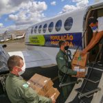 Aeronaves da Casa Militar realizaram 92 horas de voo entregando vacinas contra Covid-19