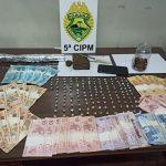 PM encaminha adolescente após apreender droga e dinheiro em Terra Boa
