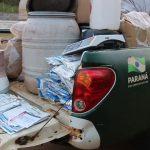 Polícia apreende grande quantidade de agrotóxicos contrabandeados em Umuarama