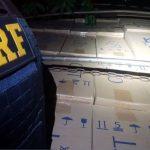 Motorista é preso com carreta carregada com cigarros contrabandeados em Altônia
