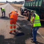 DER-PR inicia reparos emergenciais em quase 200 km de rodovias no Oeste
